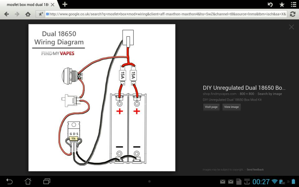 wiring diagram a parallel box mod first attempt at mosfet box mod vaping forum planet of the vapes  first attempt at mosfet box mod