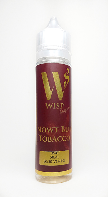Wisp Eliquid Signature range nowt but tobacco