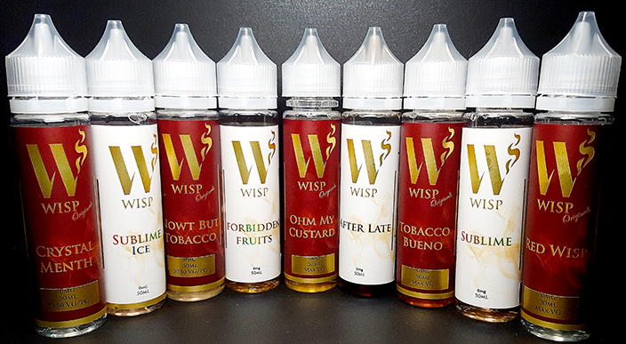 Wisp Eliquid Signature range full range
