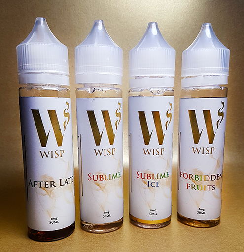Wisp Eliquid Signature range white labels