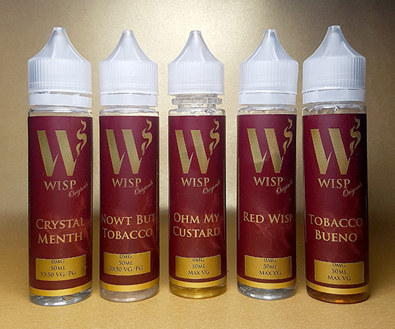 Wisp Eliquid Signature range red labels