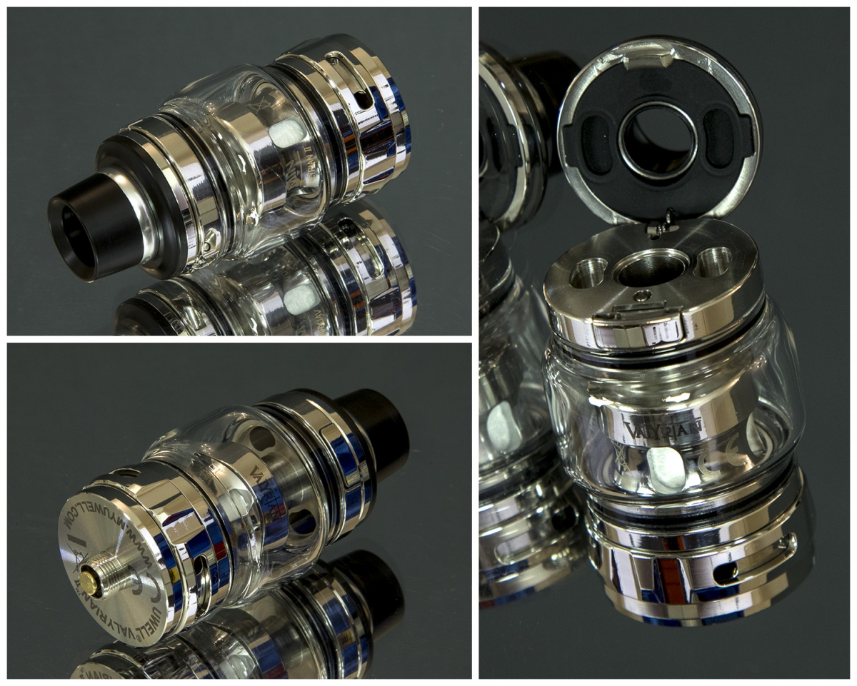 Uwell Valryian 2 300W sub-ohm kit tank filling and close up