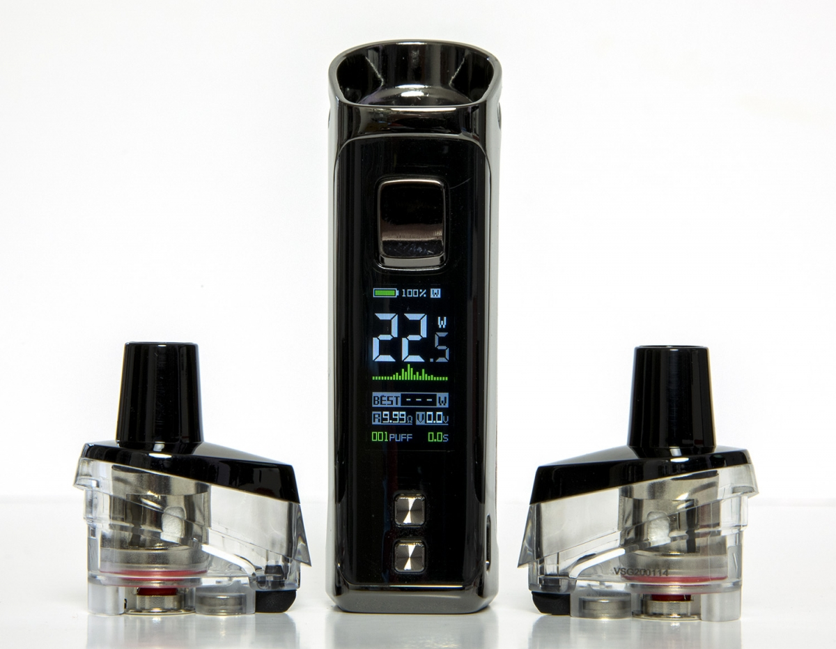 Vaporesso Target PM80 Kit screen and tanks