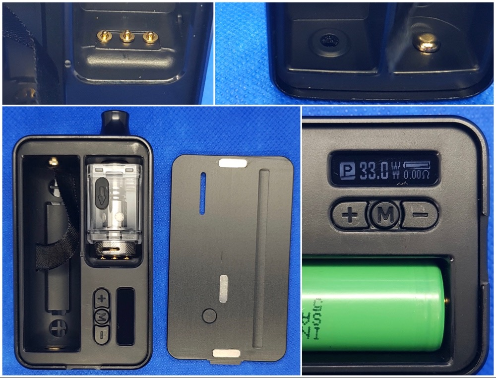 VapeOnly Space 60W Mod Kit pod and battery fitting