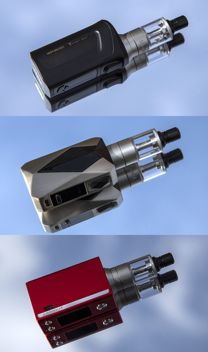 Augvape Merlin Nano on different mods
