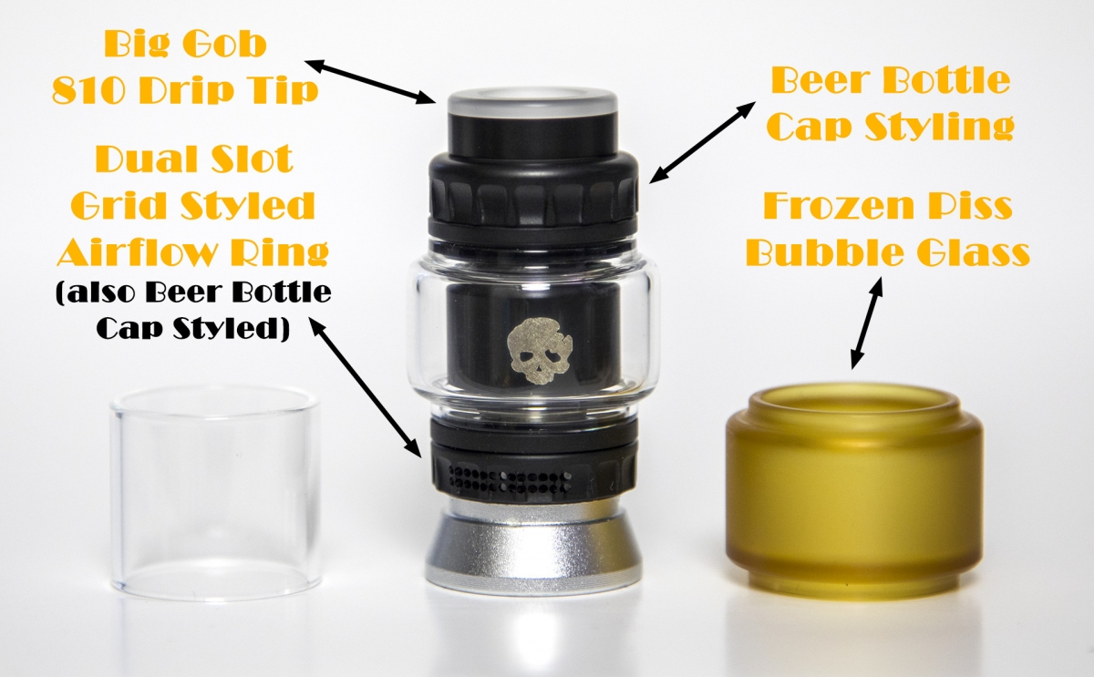 Dovpo Blotto RTA Mini parts labelled