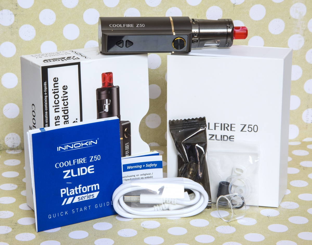 Innokin Coolfire Z50 Zlide Kit Full Contents