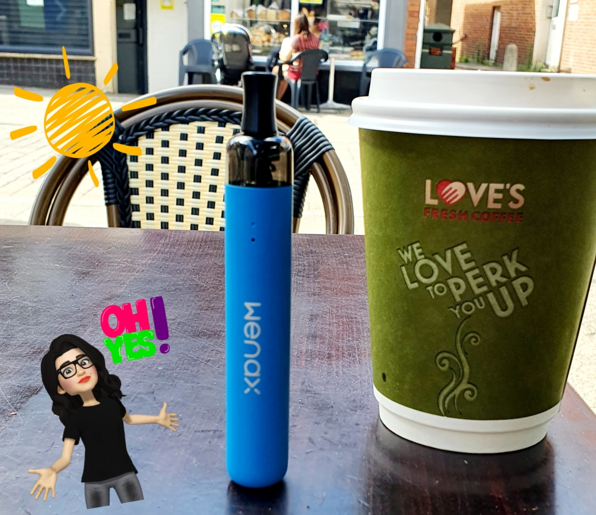 Geekvape Wenax Stylus coffee and a vape!