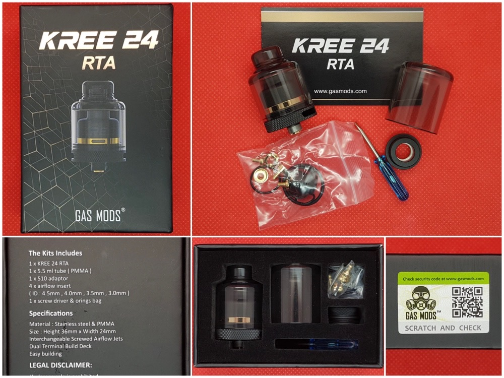 Gas Mods KREE packaging and contents
