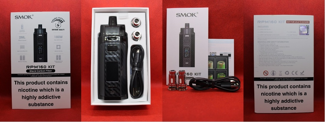 Smok RPM160 Pod Kit packaging and contents