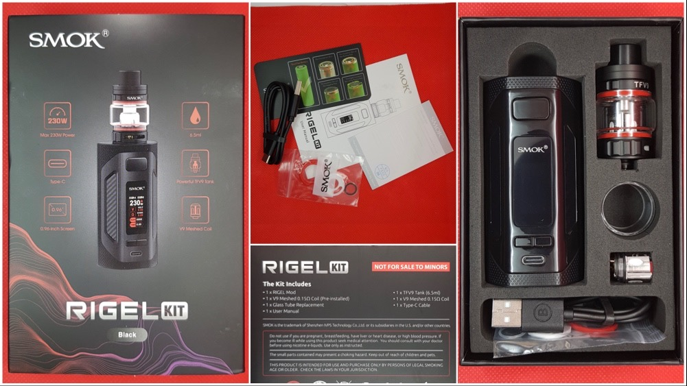 Smok Rigel Kit packaging and contents