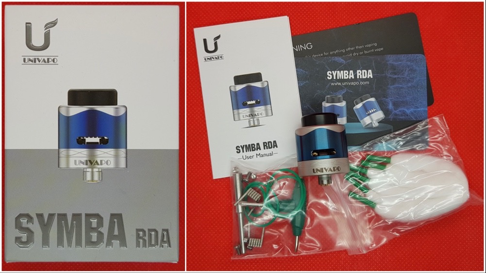 Univapo Symba RDA boxed and contents