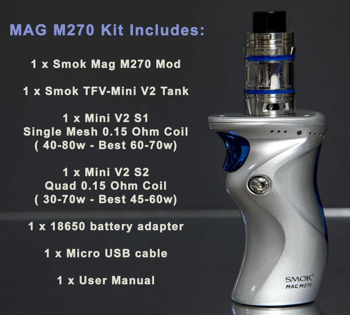USB CABLE LEAD CHARGER FOR SMOK MAG
