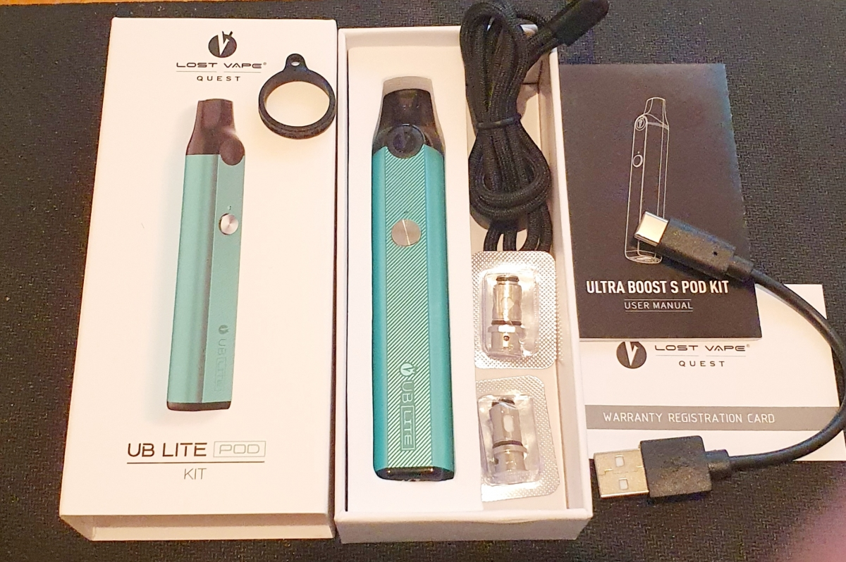 Lost Vape UB Lite Pod Kit contents