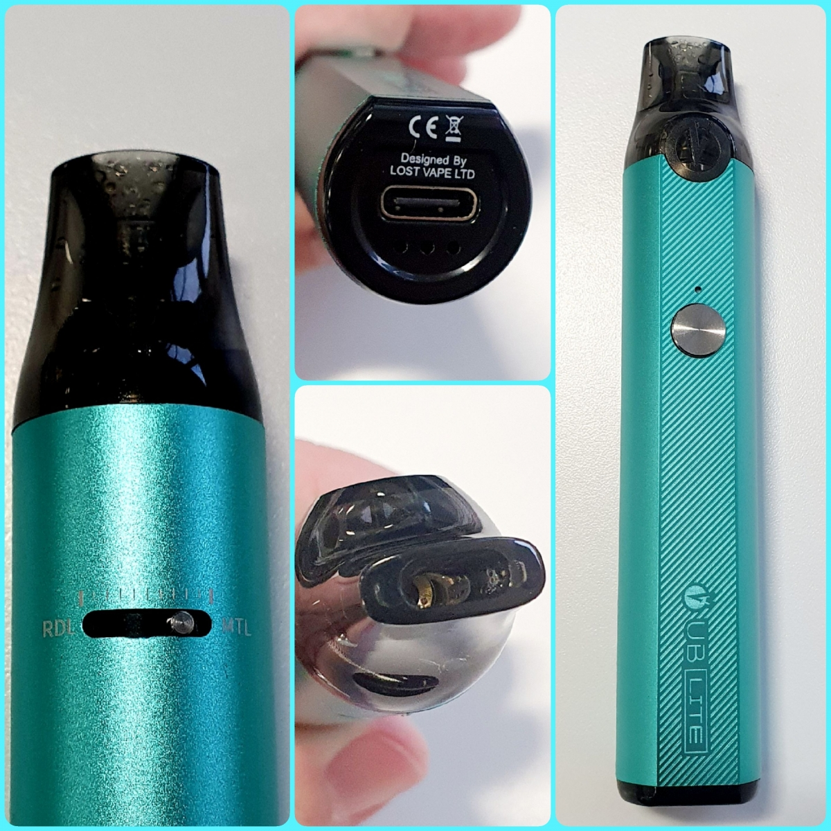 Lost Vape UB Lite Pod Kit close-ups
